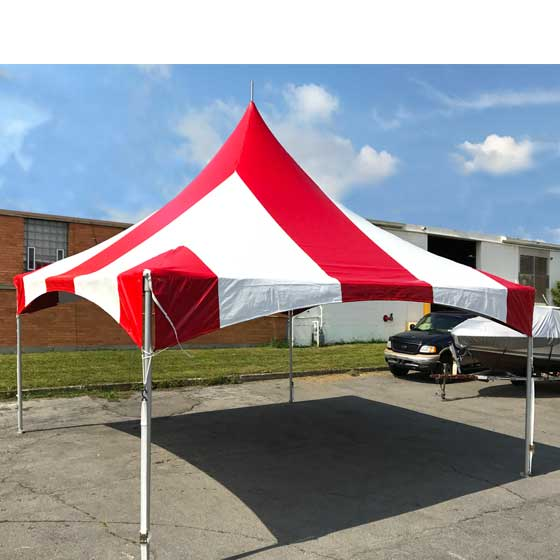 Commercial Party Tent 20u0027x20u0027 High Peak Frame Wedding Event Canopy Red Striped & Commercial Party Tent 20u0027x20u0027 High Peak Frame Wedding Event Canopy ...