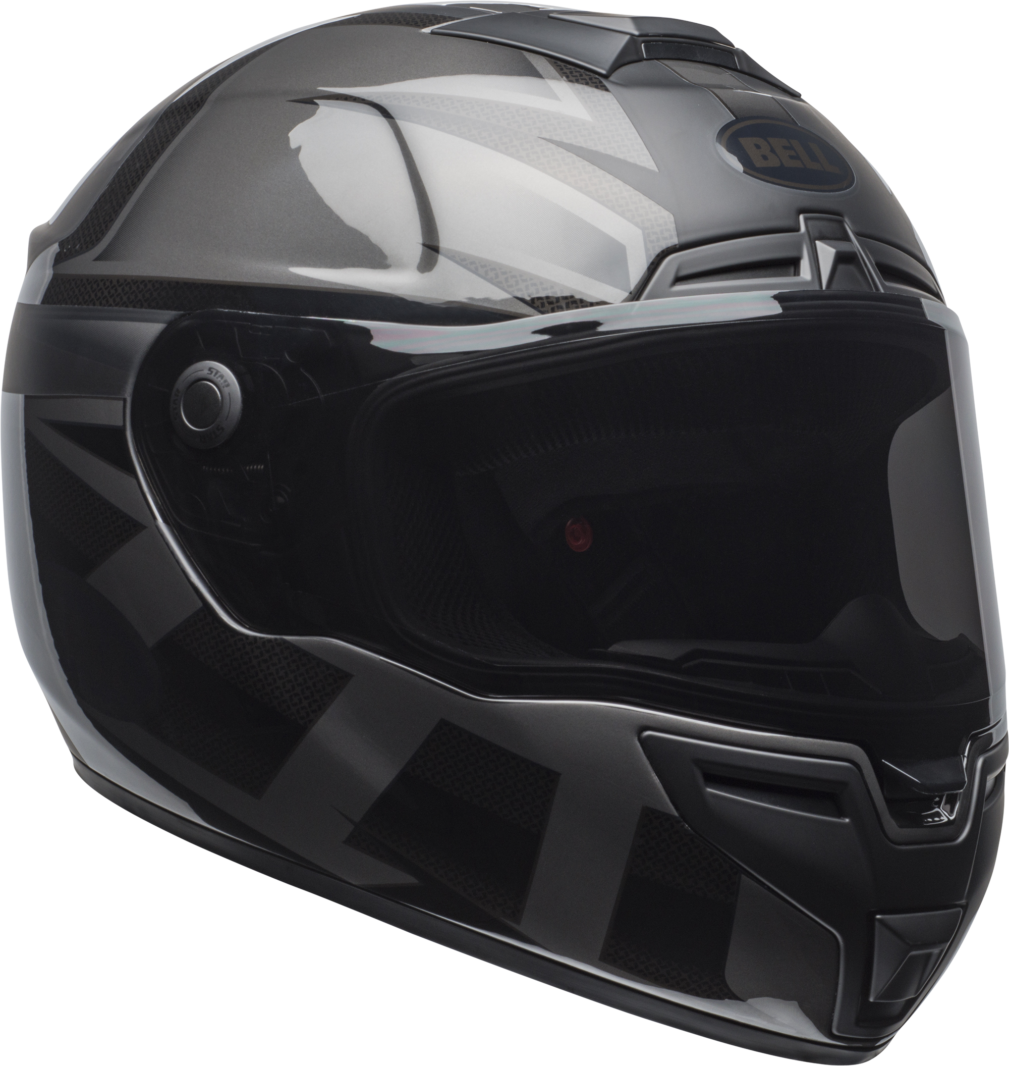 Bell Full Face Helmet >> Bell Helmets Srt Blackout Full Face Helmet Ebay