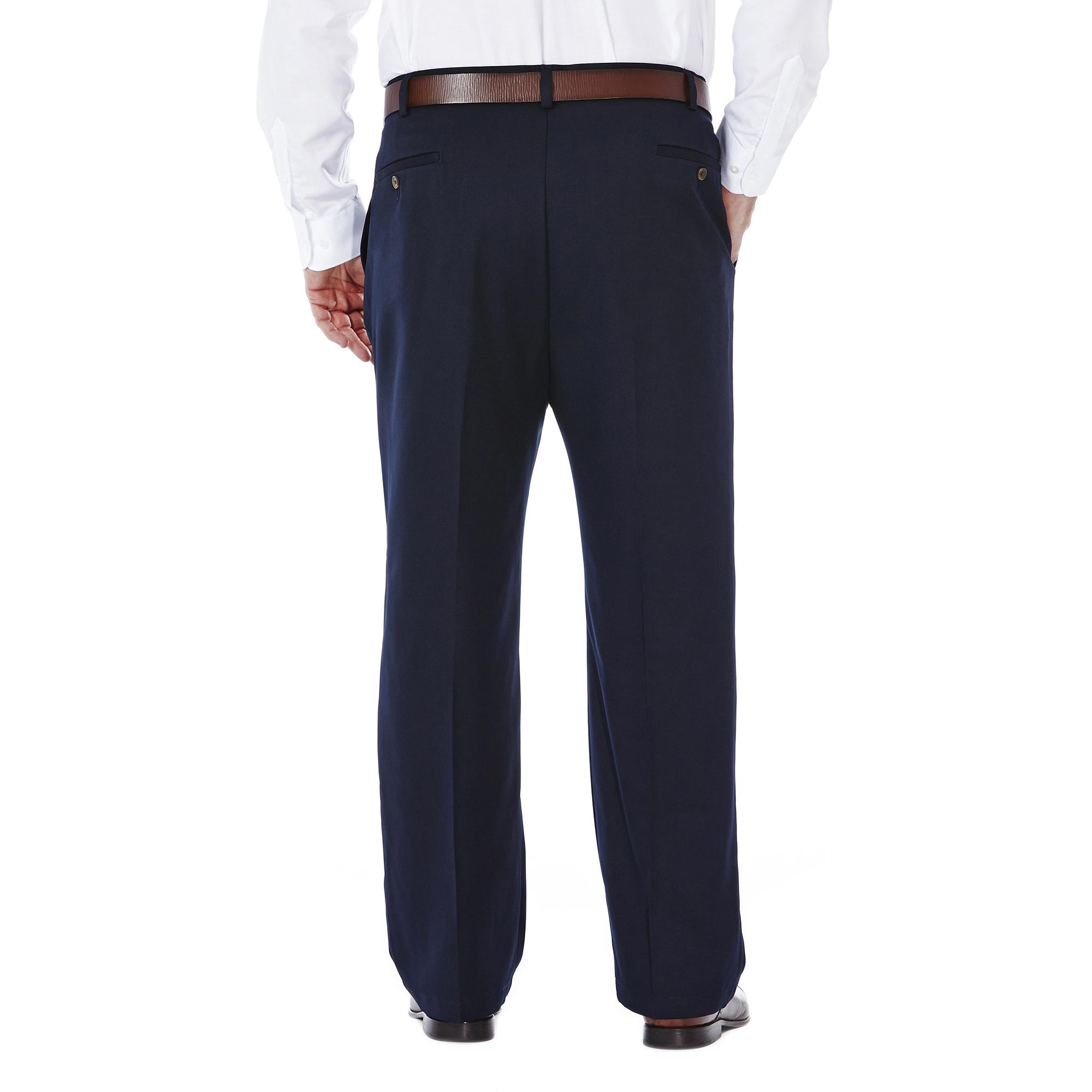 ca95e22ce Haggar Men s Big   Tall Cool 18® Solid Pleat Front Pant Classic Fit ...