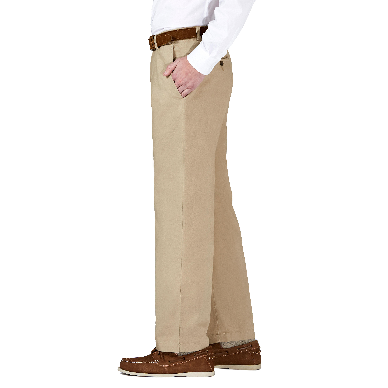 Haggar Mens Coastal Comfort Classic Fit Superflex Flat Front Pant Casual Pants