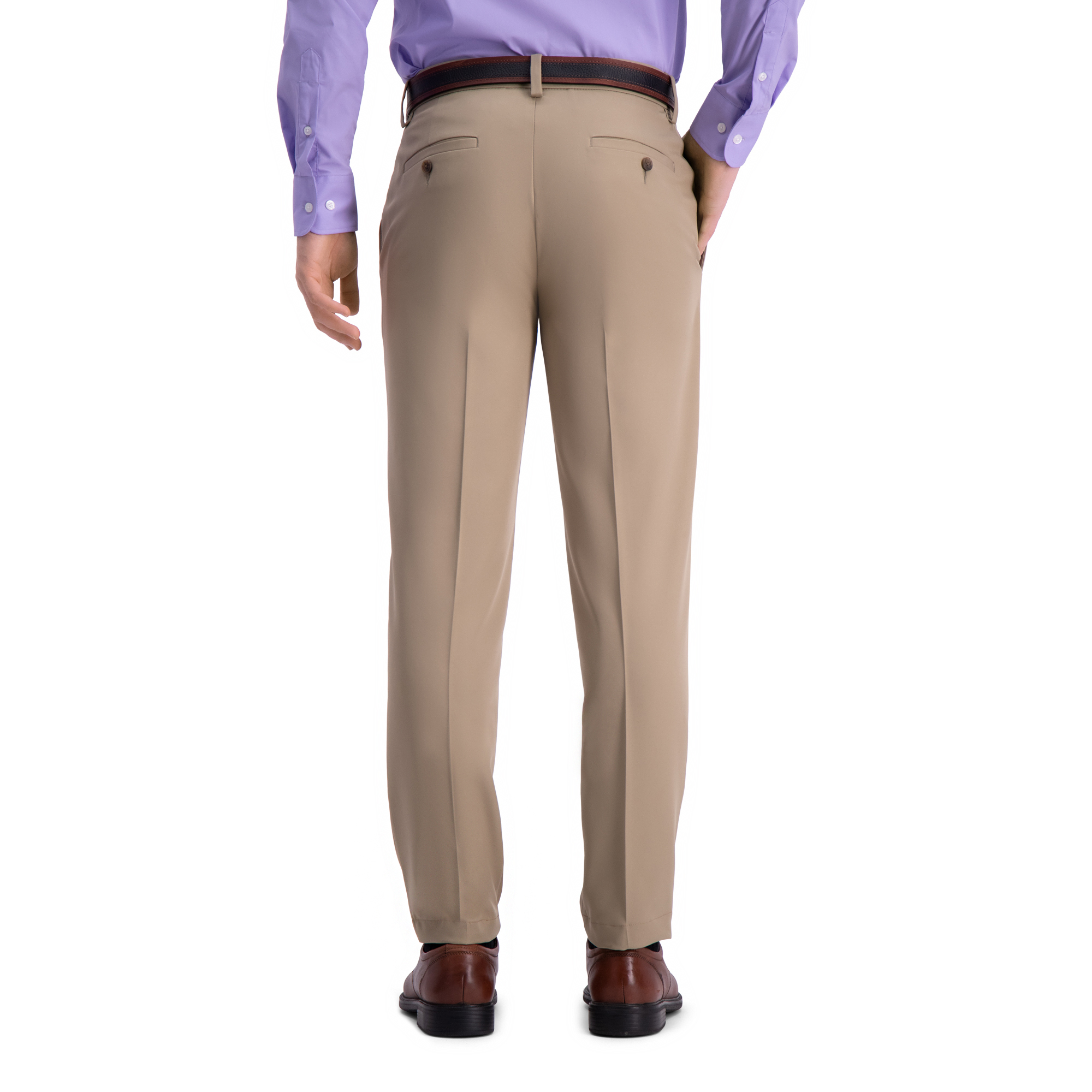 5f617974bc5 Haggar Men s Cool 18® Pro Solid Flat Front Pant Slim Fit HC00287