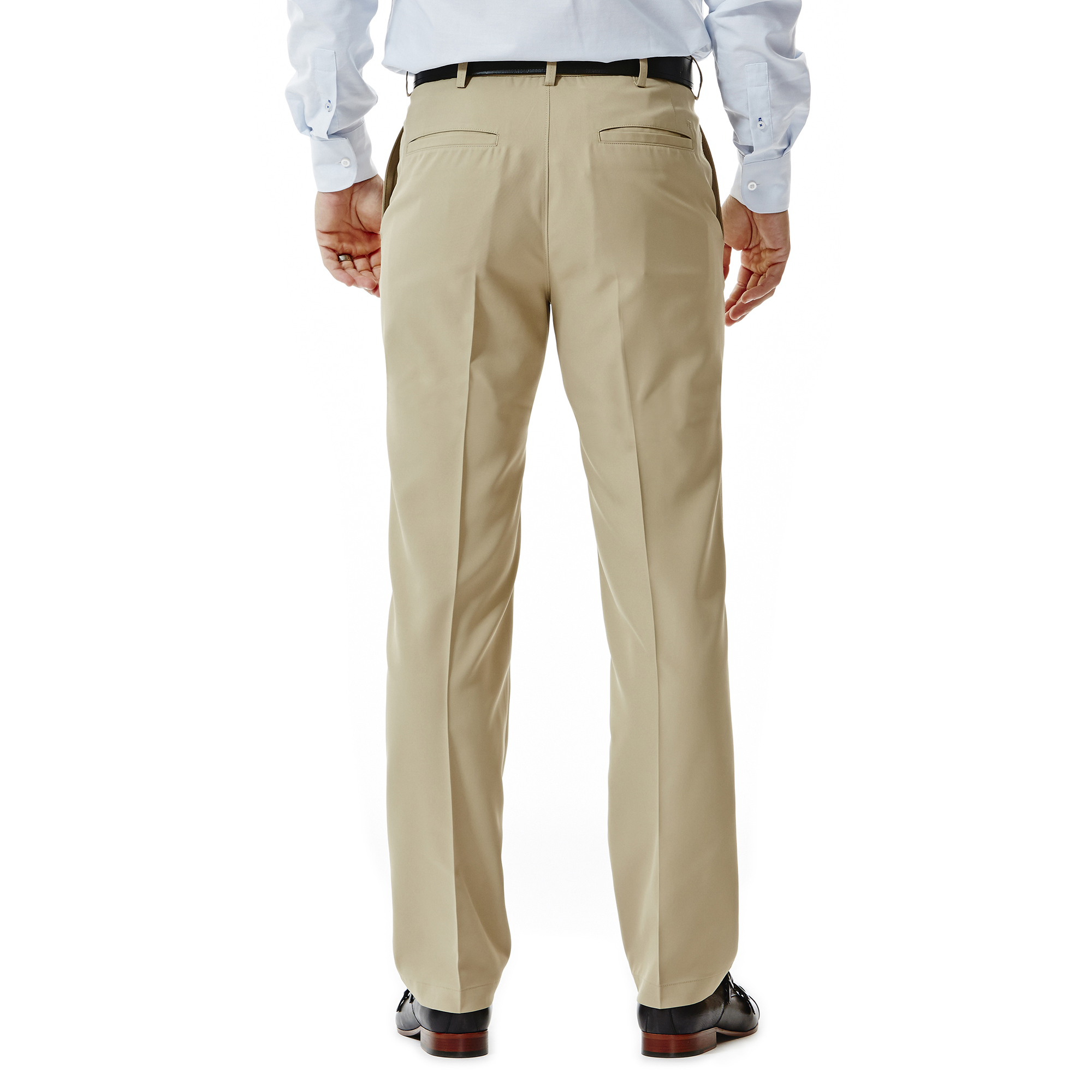 Haggar-Men-039-s-Performance-Microfiber-Flat-Front-Pant-Straight-Fit-HC10822
