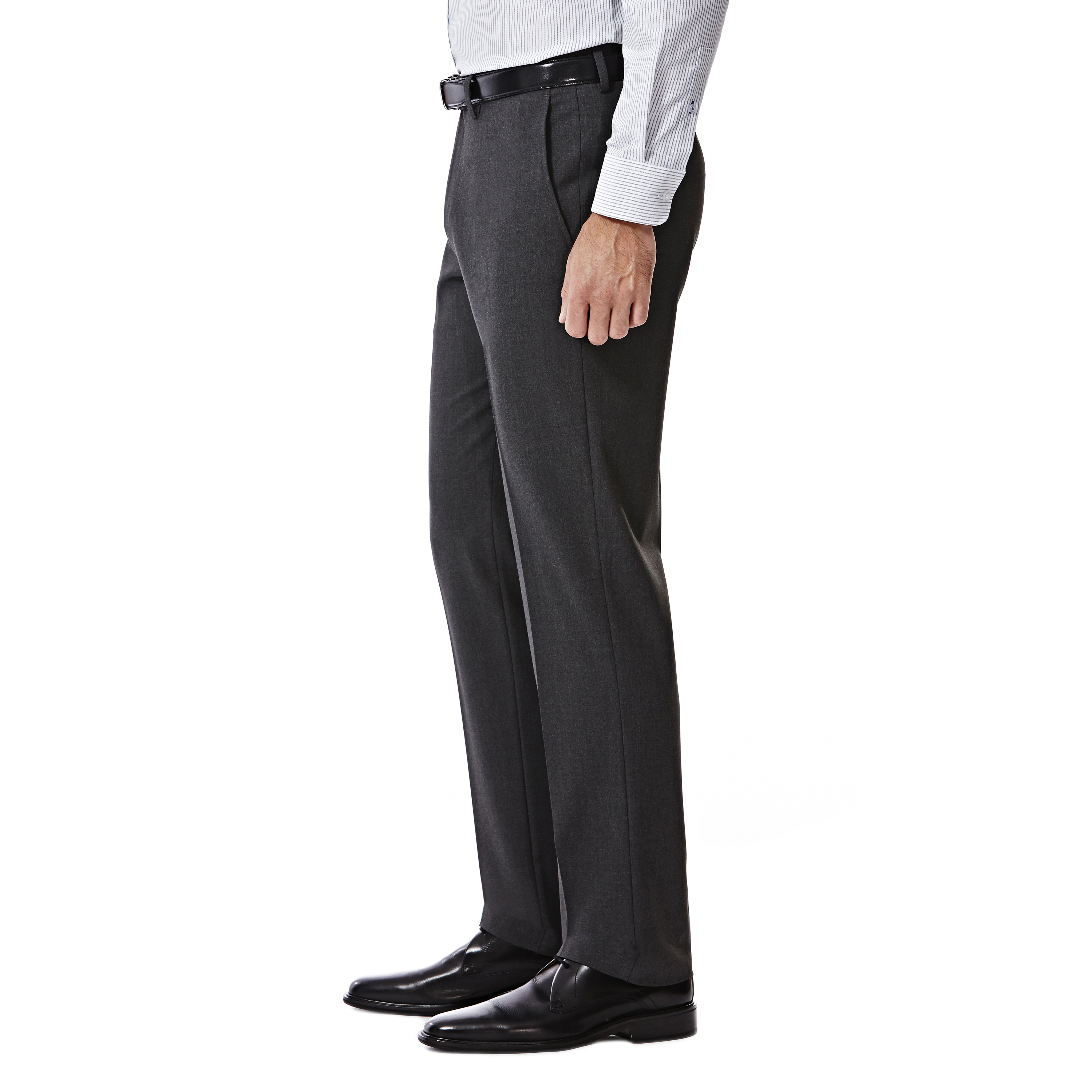 Haggar 4-Way Stretch Solid Flat Front Slim Fit Suit Separate Pant and 2-Button Coat Haggar Men/'s Tailored HY70295 J.M
