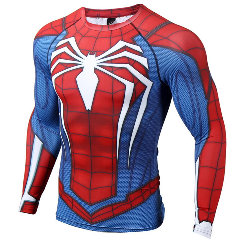 superhero marvel t shirt men superman compression ironman crossfit tee top ebay. Black Bedroom Furniture Sets. Home Design Ideas