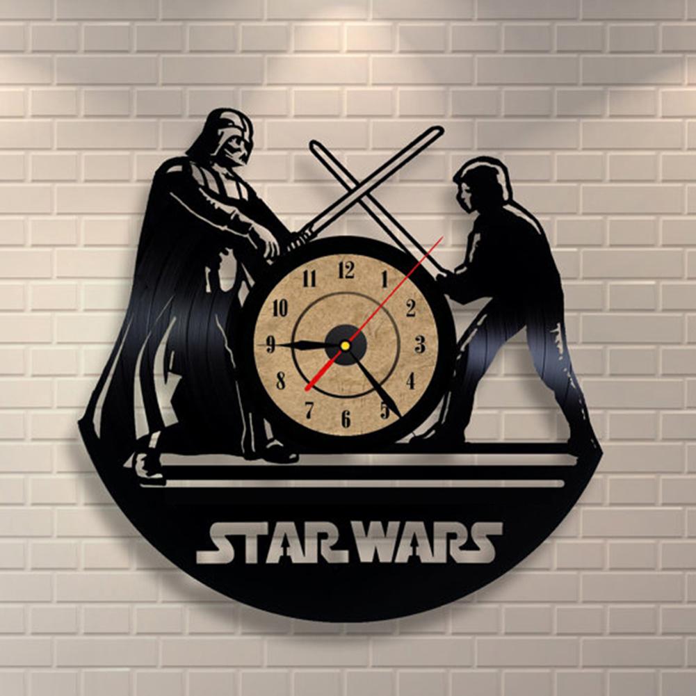 3d wall clock office star wars large room graphic modern. Black Bedroom Furniture Sets. Home Design Ideas