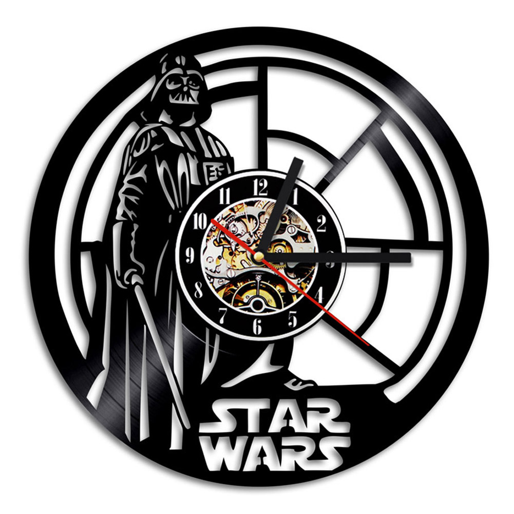 wall clock for office. 3D-Wall-Clock-Office-Star-Wars-Large-Room- Wall Clock For Office C
