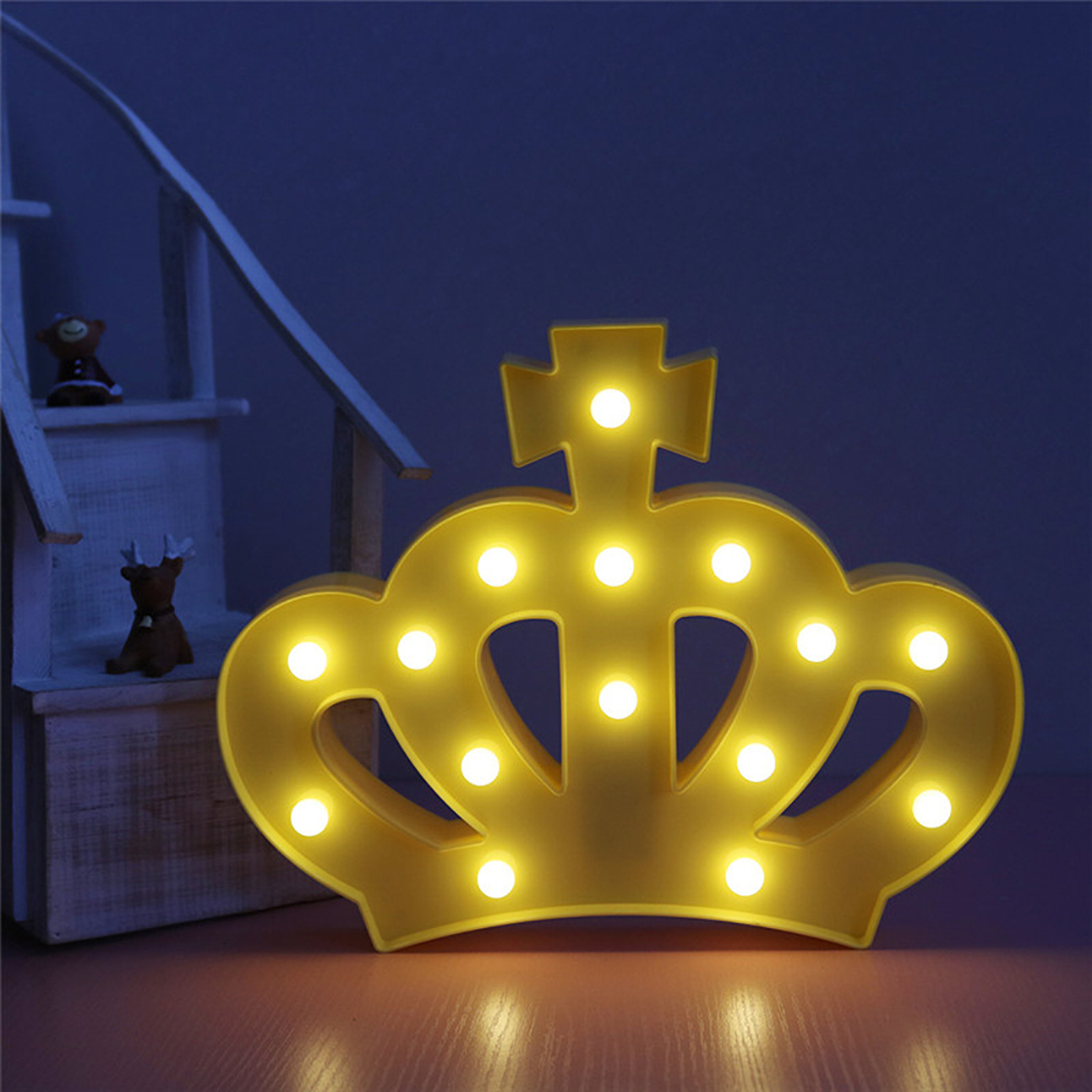 Night Light Kids Unicorn Crown Bedroom Baby Bear LED Decor Home Wall ...
