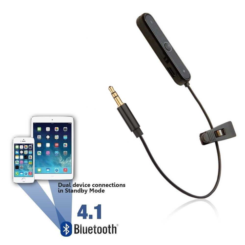 [reytid] Bluetooth Adapter For Car Aux Port - Wireless Converter Receiver - Auxiliary Phone In-car