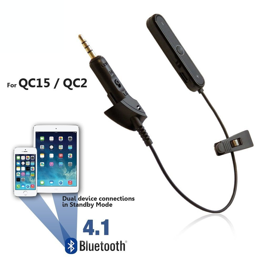 [reytid] Bose Quietcomfort 15 Qc15 Wireless Bluetooth Converter Cable Lead - Iphone Android