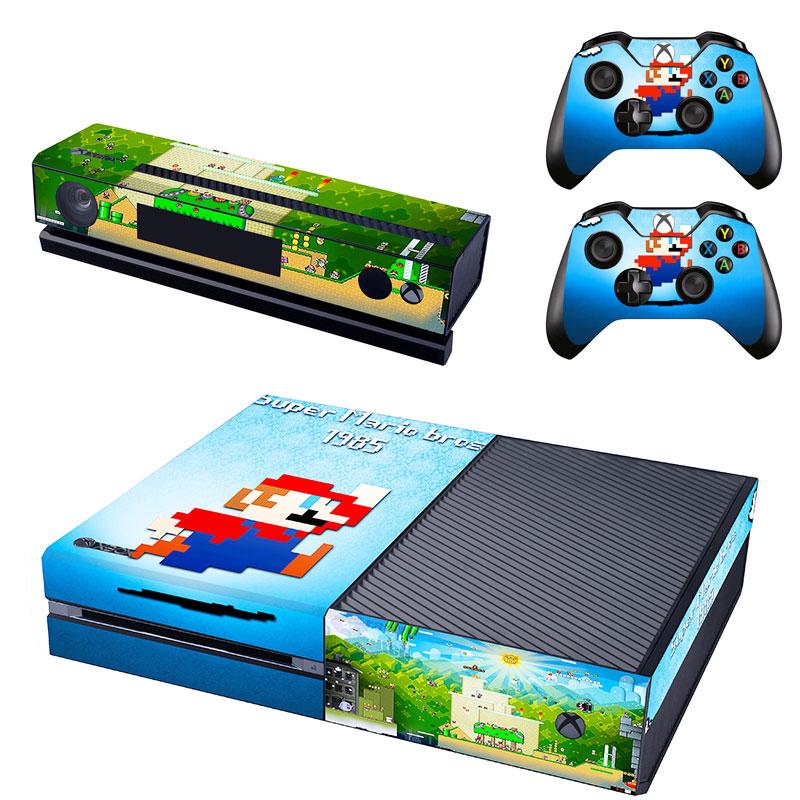 [reytid] Xbox One Console Skin / Sticker + 2 X Controller Decals & Kinect Wrap - Super Mario Bros