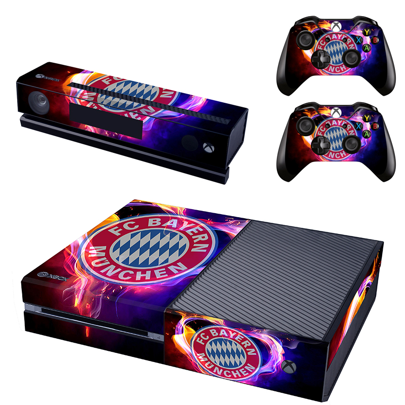 [reytid] Xbox One Console Skin / Sticker + 2 X Controller Decals & Kinect Wrap - Bayern Munich