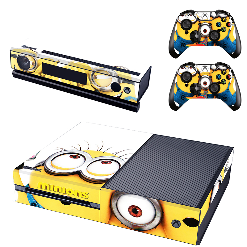 [reytid] Xbox One Console Skin / Sticker + 2 X Controller Decals & Kinect Wrap - Minions