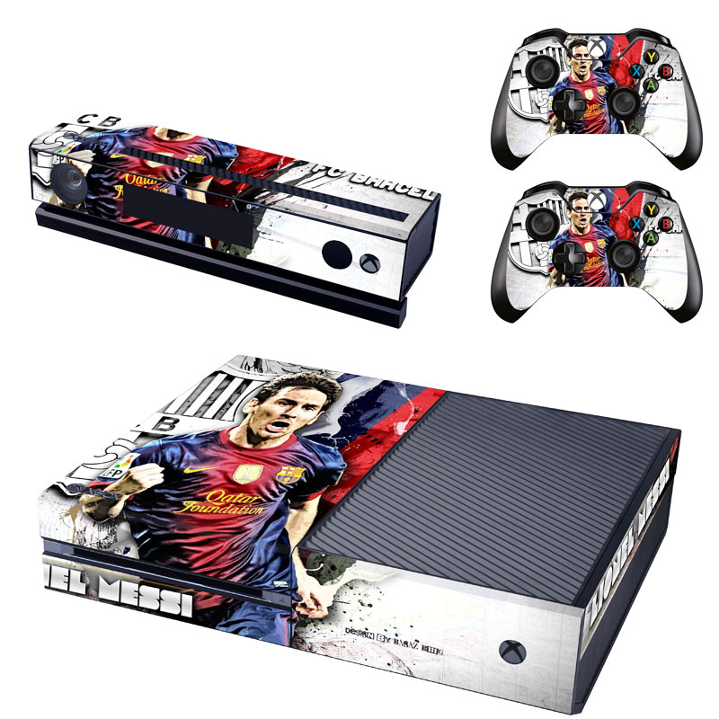 [reytid] Xbox One Console Skin / Sticker + 2 X Controller Decals & Kinect Wrap - Messi