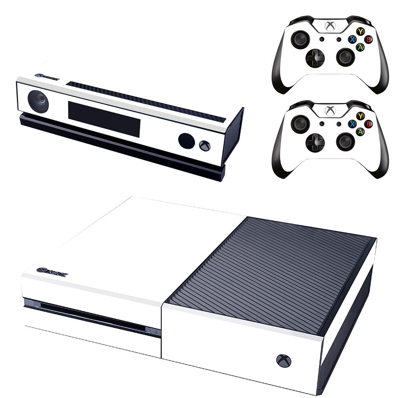 [reytid] Xbox One Console Skin / Sticker + 2 X Controller Decals & Kinect Wrap - White