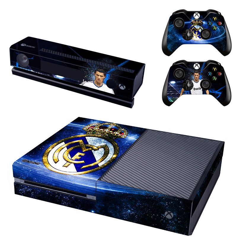 [reytid] Xbox One Console Skin / Sticker + 2 X Controller Decals & Kinect Wrap - Real Madrid Away