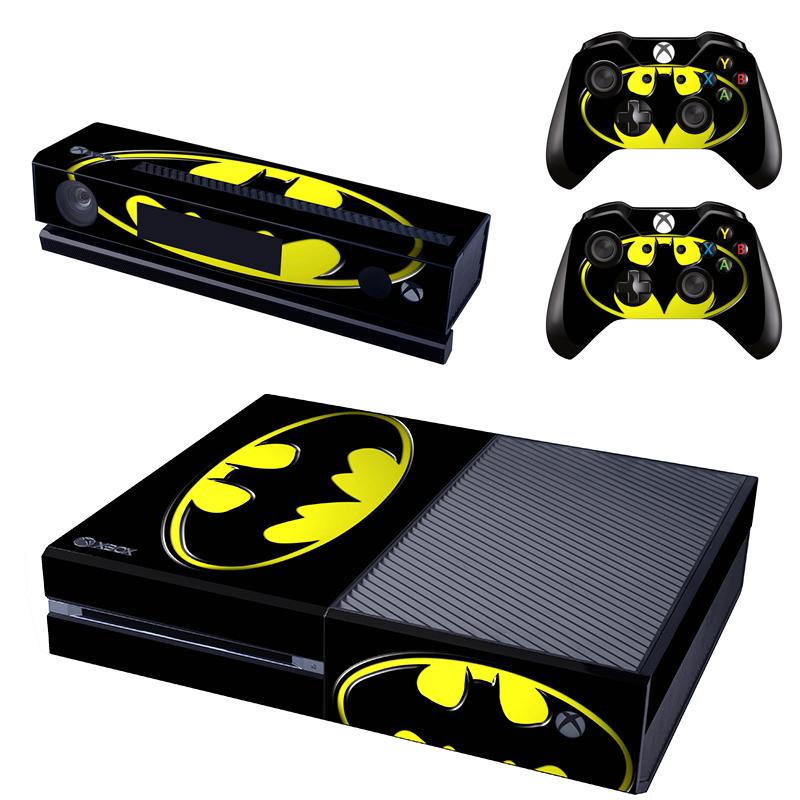 [reytid] Xbox One Console Skin / Sticker + 2 X Controller Decals & Kinect Wrap - Batman