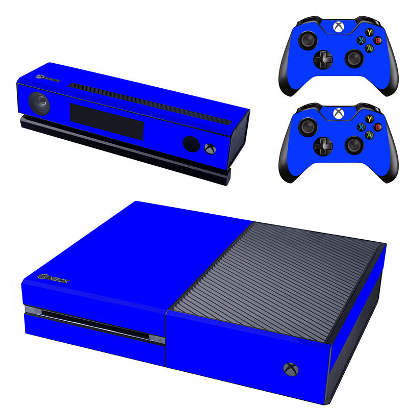 [reytid] Xbox One Console Skin / Sticker + 2 X Controller Decals & Kinect Wrap - Blue