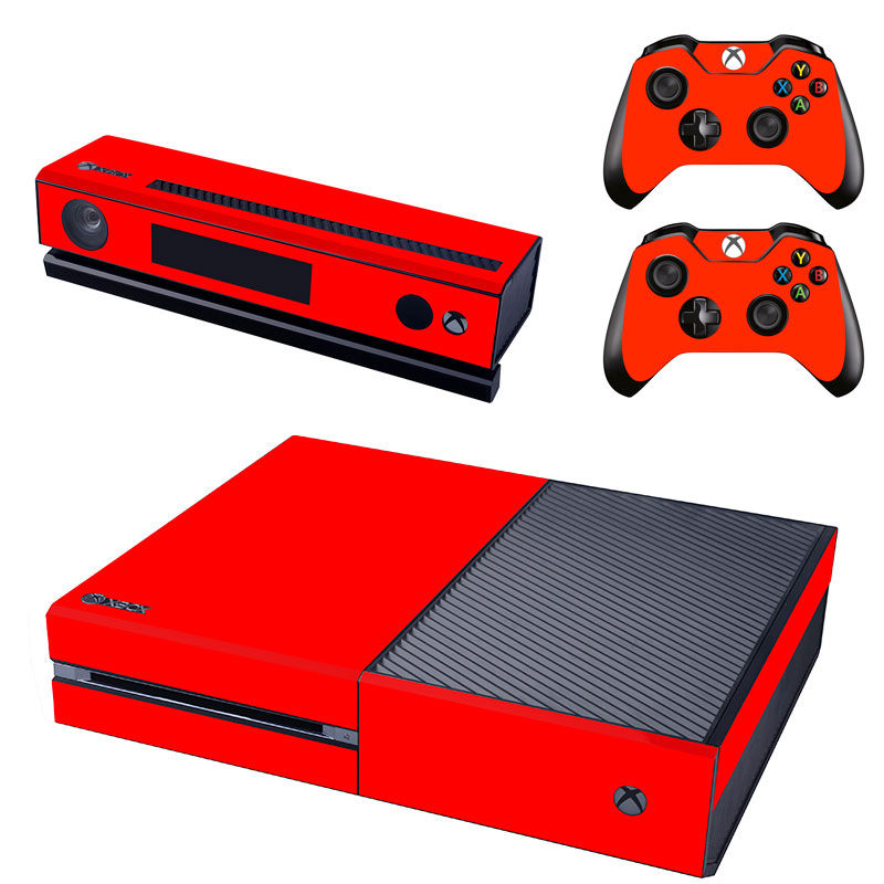 [reytid] Xbox One Console Skin / Sticker + 2 X Controller Decals & Kinect Wrap - Red