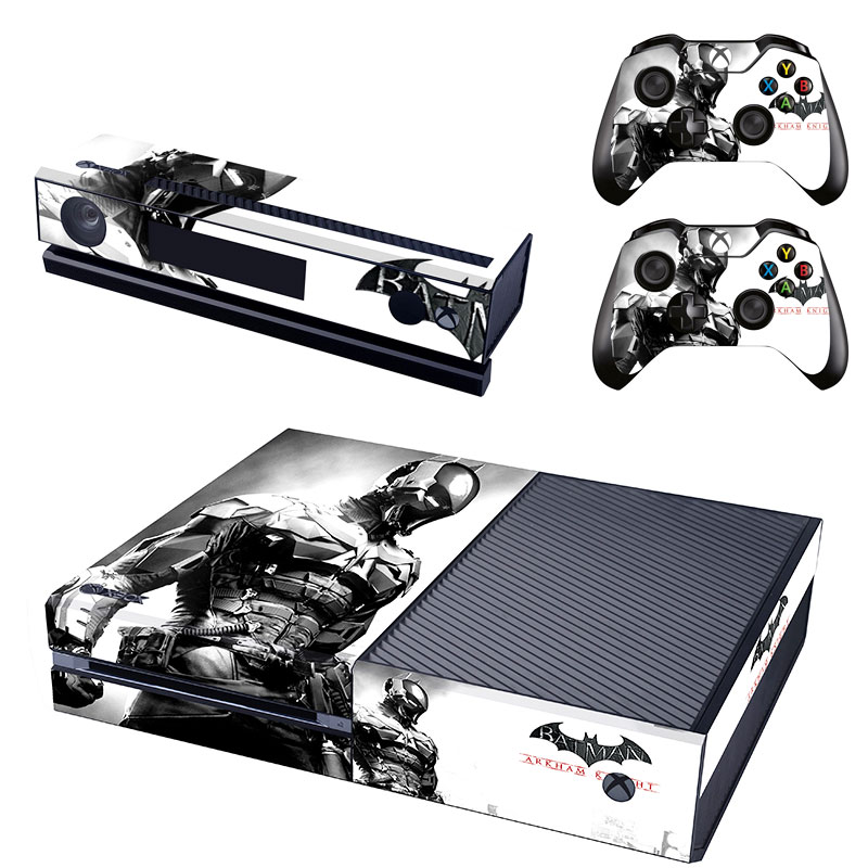 Batman arkham xbox one console skin 2x controller stickers decal faceplate pad 7426790147221 ebay