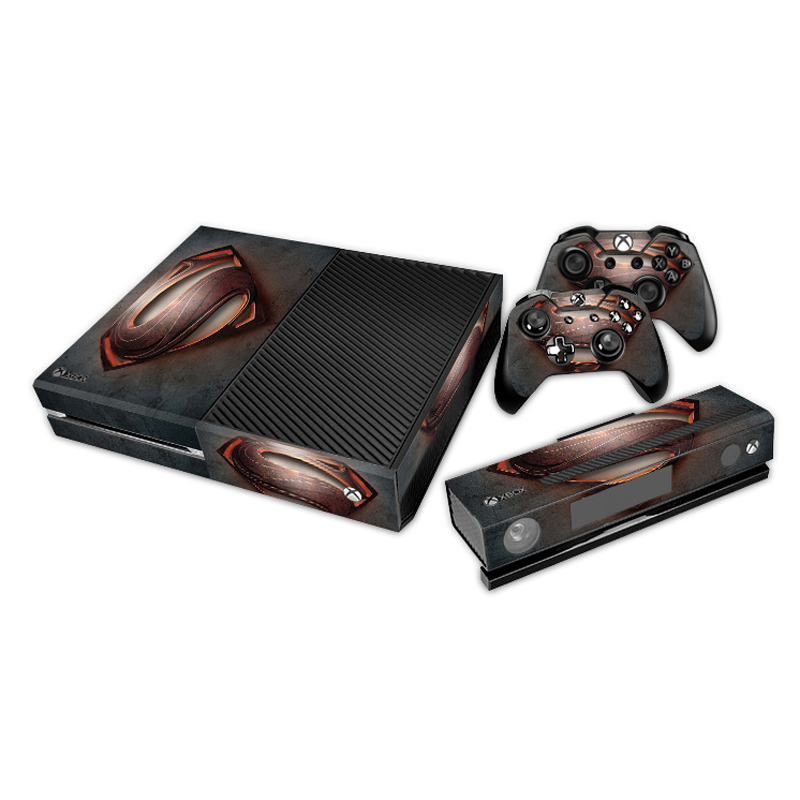 [reytid] Xbox One Console Skin / Sticker + 2 X Controller Decals & Kinect Wrap - Superman Black/red