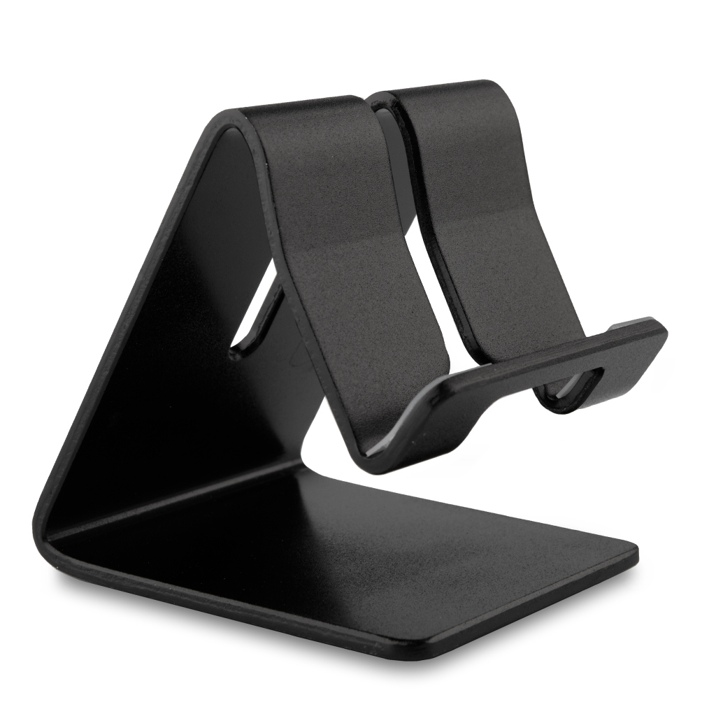 [reytid] Premium Solid Aluminum Phone Holder For All Smartphones Stand Desktop Mount - Black
