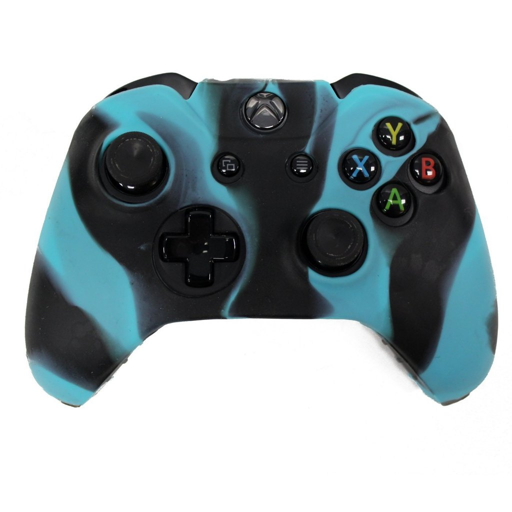 Xbox ONE© Controller Skin - GREEN - Case Silicone Cover Gel Rubber ...