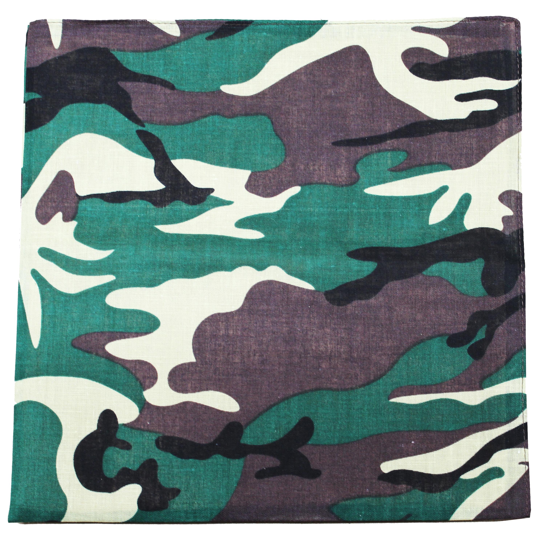 Daily Basic Camouflage Bandana 100% Cotton - 22 inches - Bul