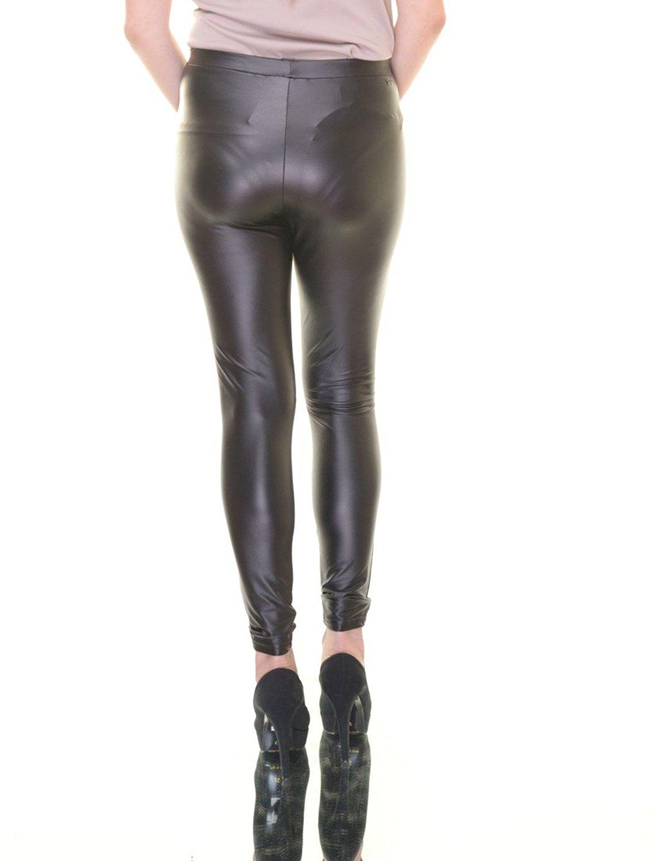 497c70faaa89b Material Girl Juniors' Metallic Faux-Leather Leggings Size XL ...