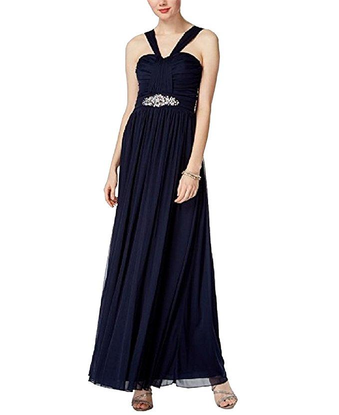 d0d9af35f Image is loading B-Darlin-Juniors-039-Embellished-Halter-Dress-Size-