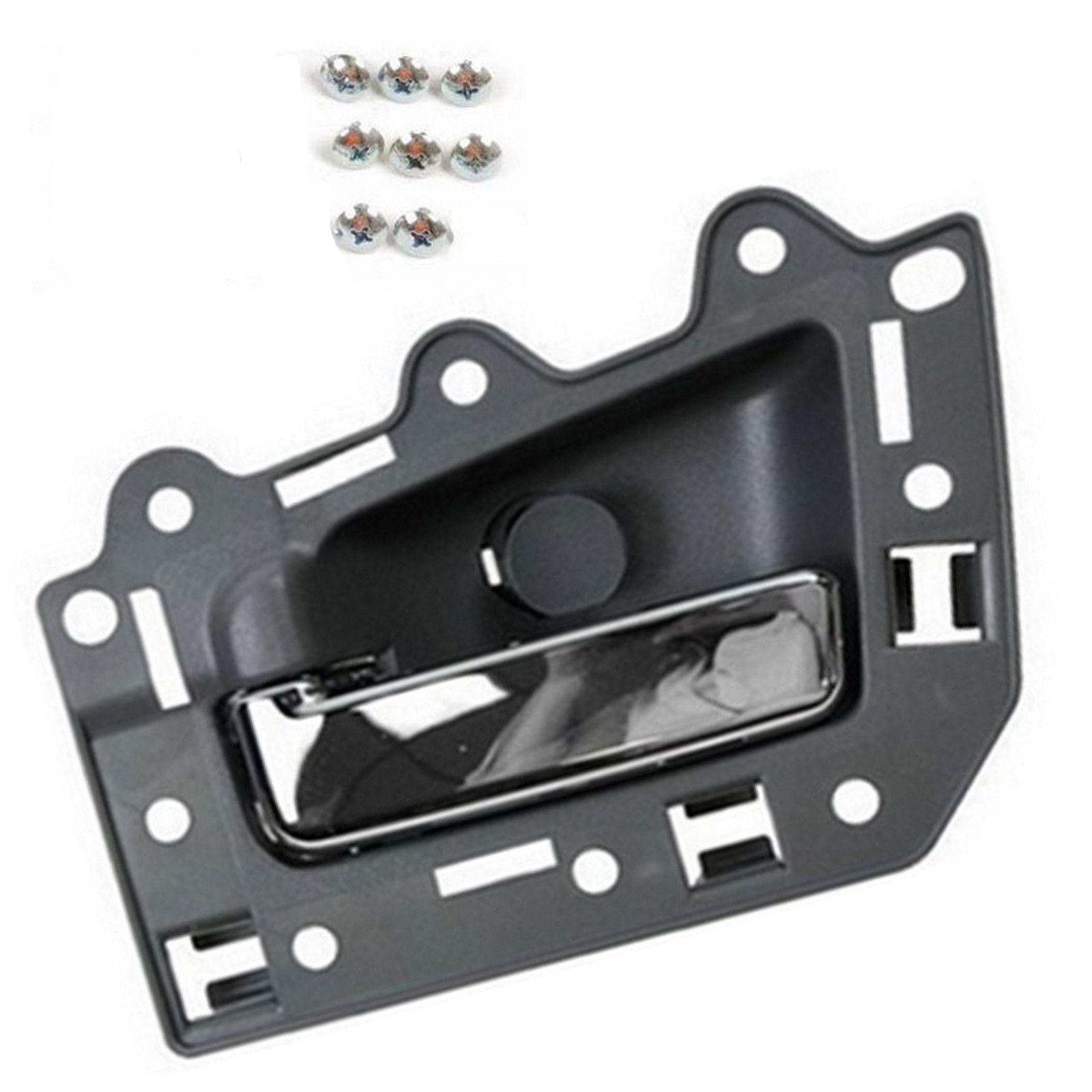 For 05-11 Jeep Grand Cherokee BJ0007 Rear Left Inside Door Handle Gray /& chrome