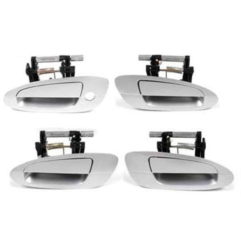 For 02-06  Nissan Altima Outer Door Handle Front /& Rear Silver KY1 Set 4 DS268