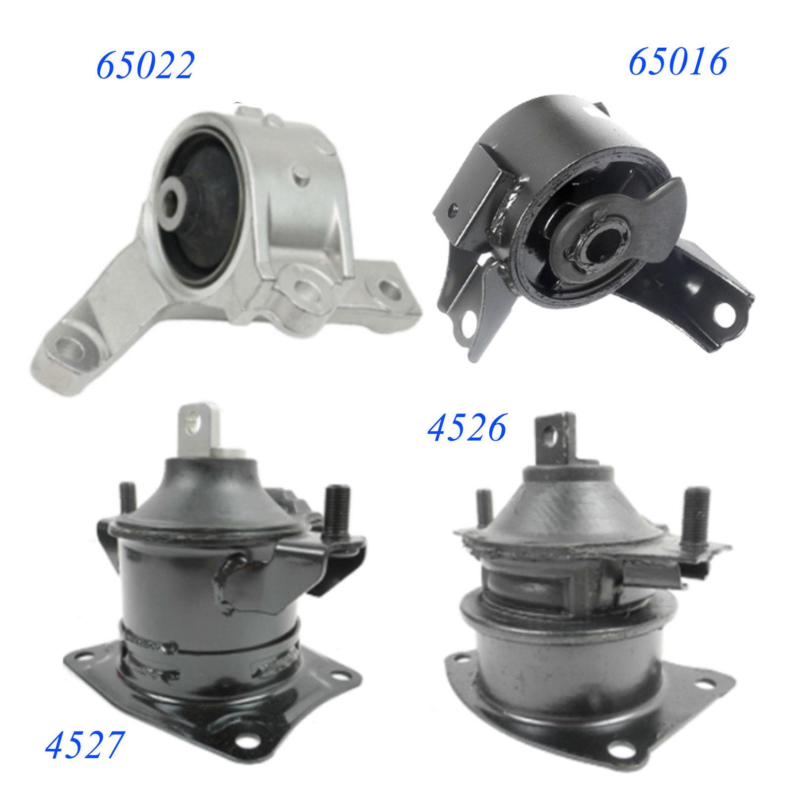 . SET OF 4 ENGINE /& TRANSMISSION MOUNTS FOR 3.7L, V6, A//T 2007-2009 ACURA MDX