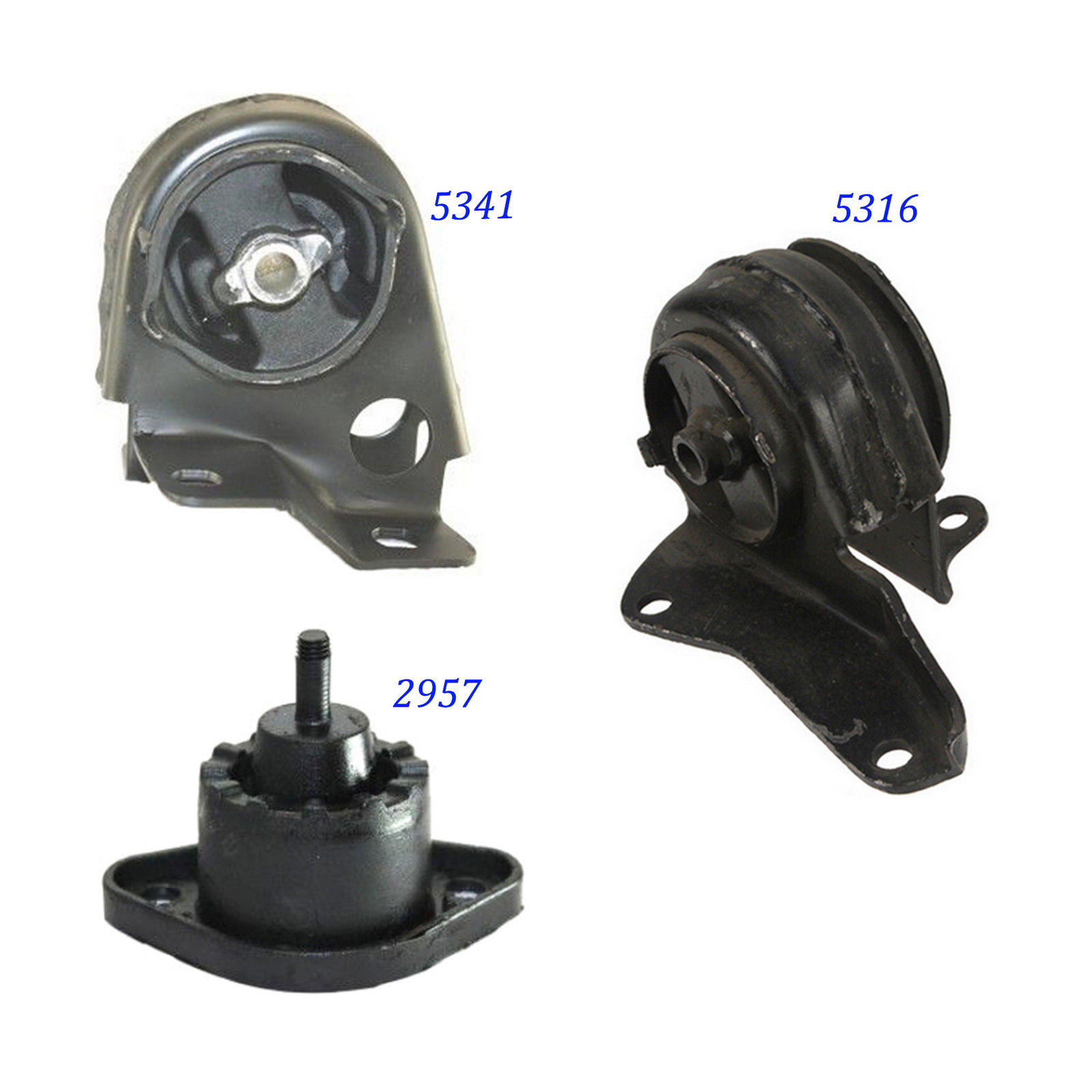For Chevrolet S10//GMC Sonoma 2.2L Engine /& Trans Mount Auto Set 2957 5316 5341