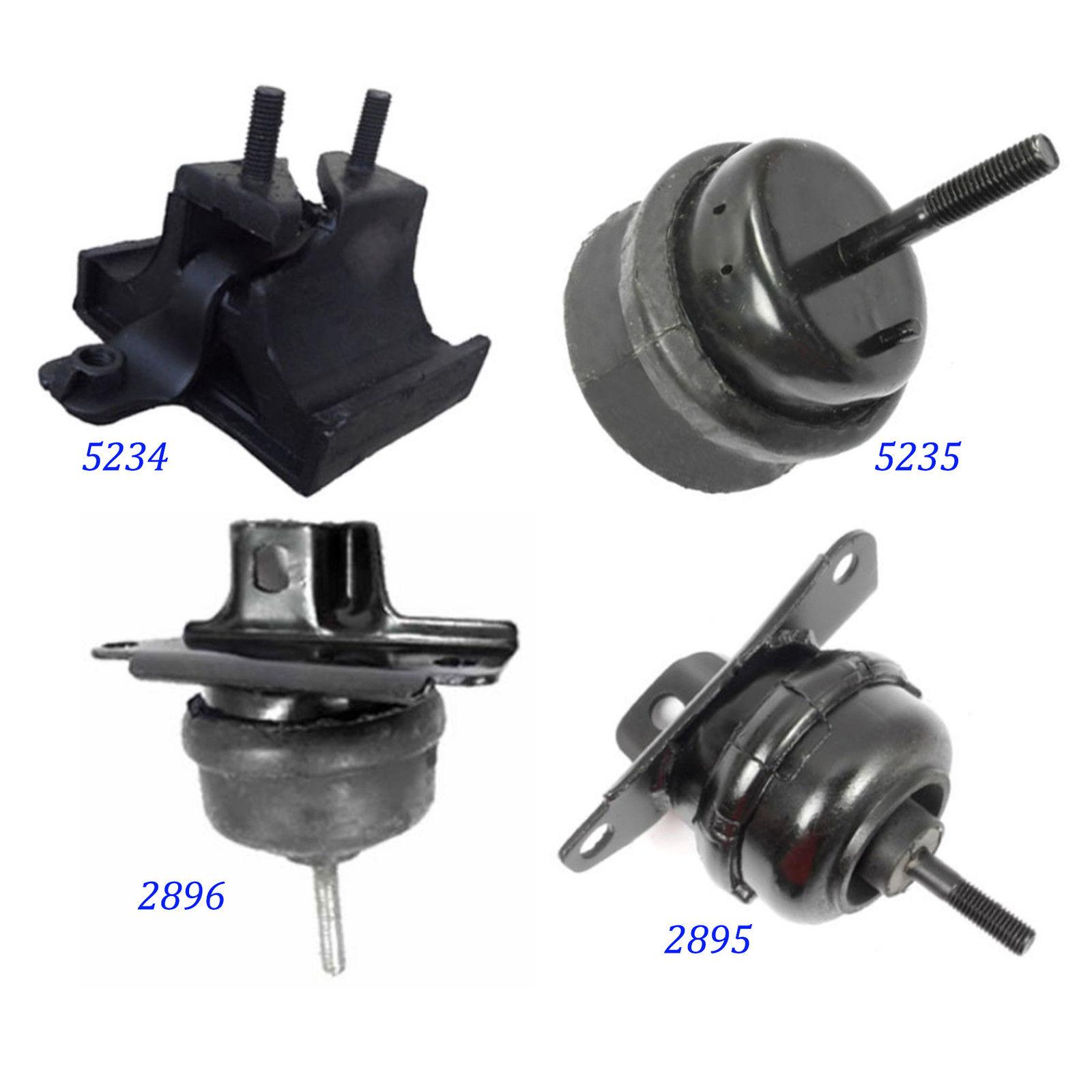 Front /& Rear Engine Motor Mount Set 2PCS 1998-2004 for Cadillac Seville 4.6L