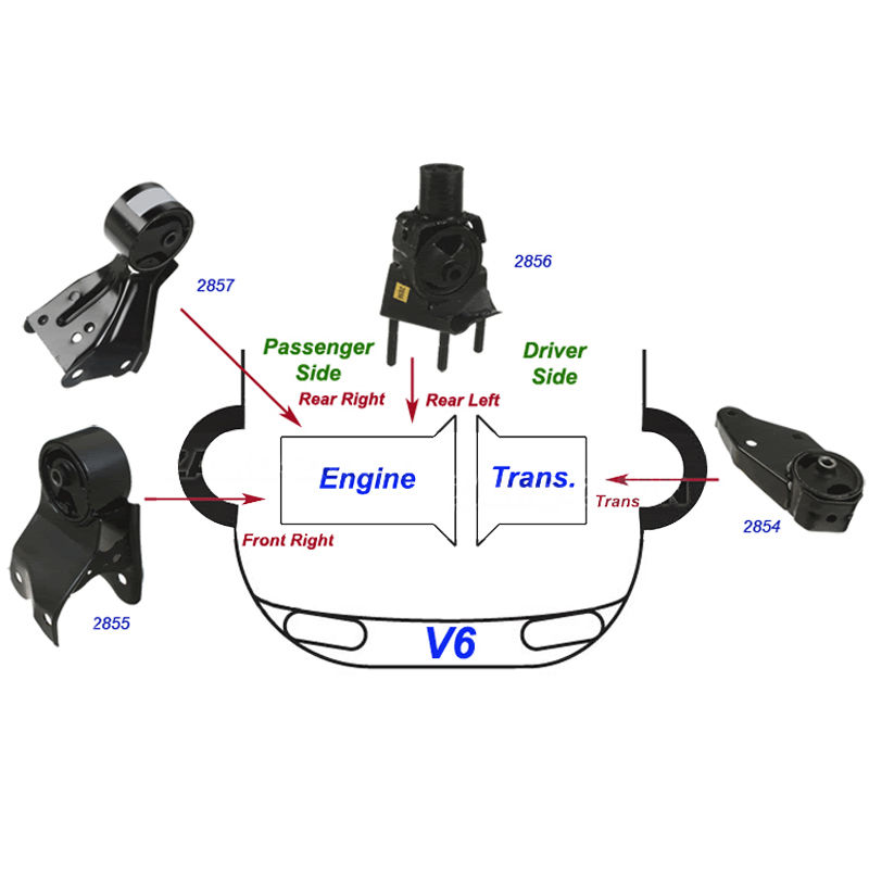 Front Right Engine Mount for NISSAN QUEST MERCURY VILLAGER