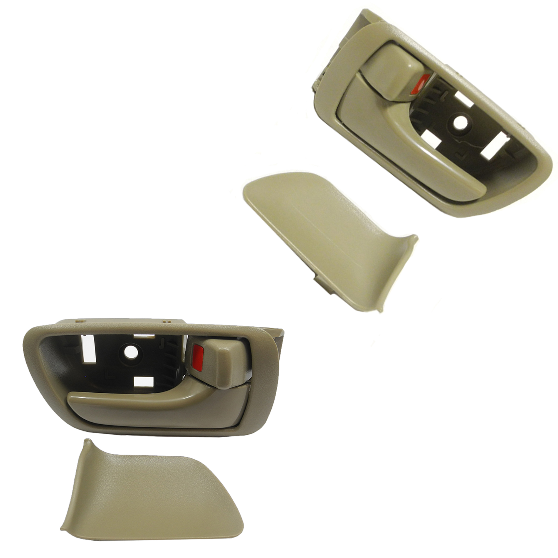 Inside Door Handle Set 4pcs For 2002-2006 Toyota Camr Tan Front Rear Left Right