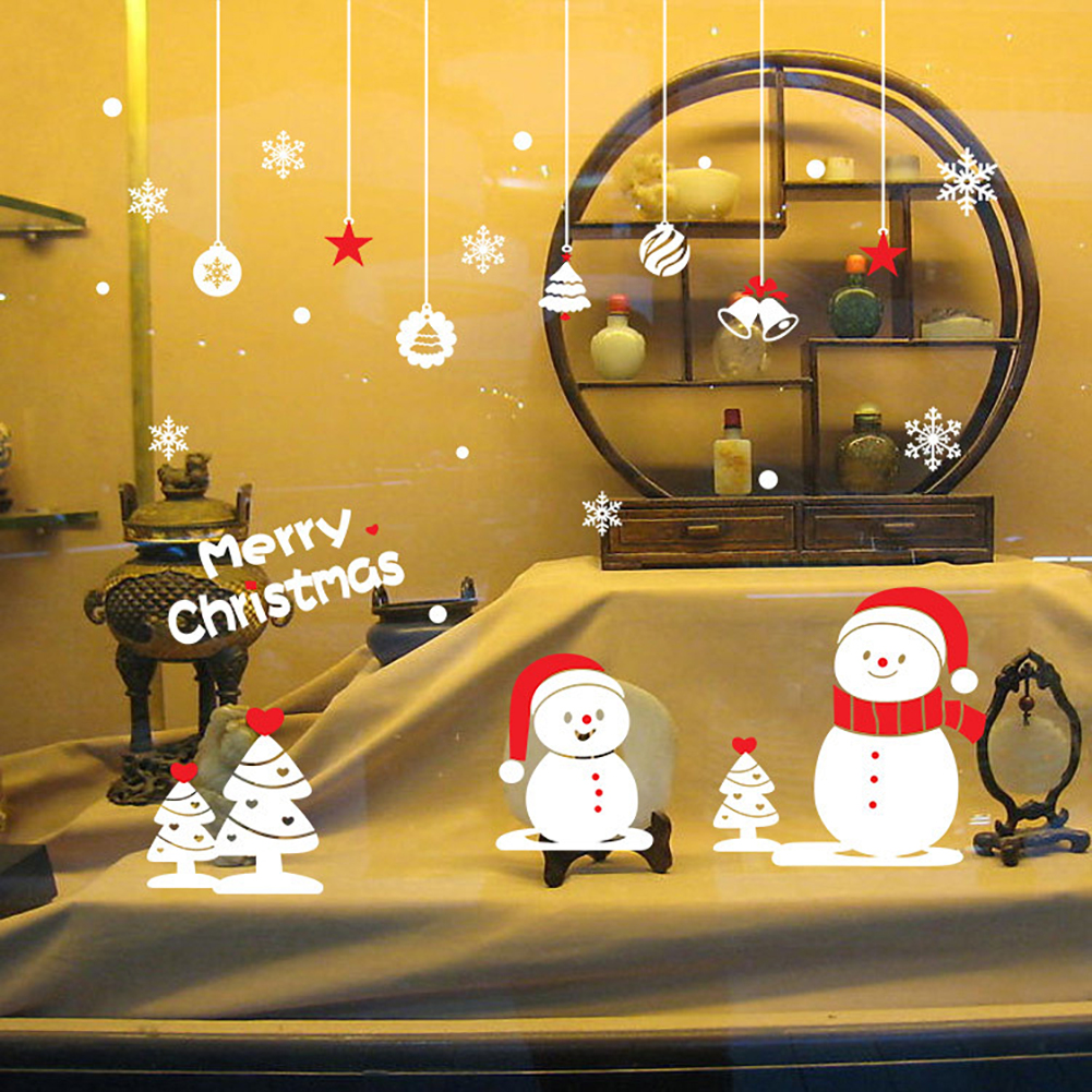 Removable Home Shop Window Merry Christmas Snowflakes Wall Art ...