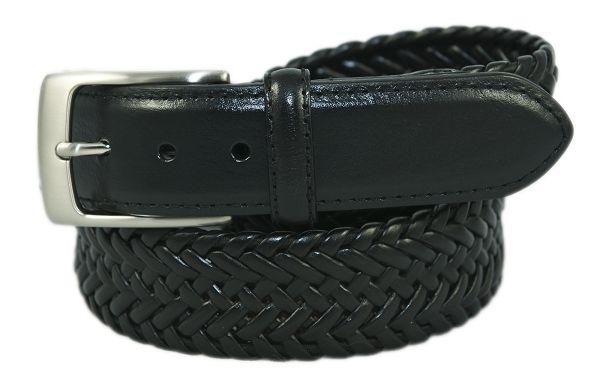 PGA TOUR Men's Black Stretch Braid Genuine Leather Belt - NEW - Sizes 34 - 44