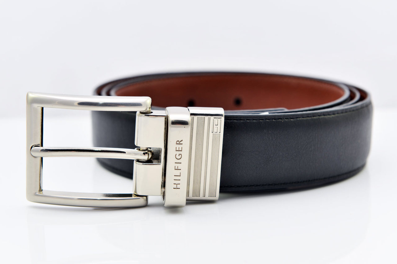 e17edc53fa34 Tommy Hilfiger Men s Reversible Dress Belt - Black Tan - Size 32 ...