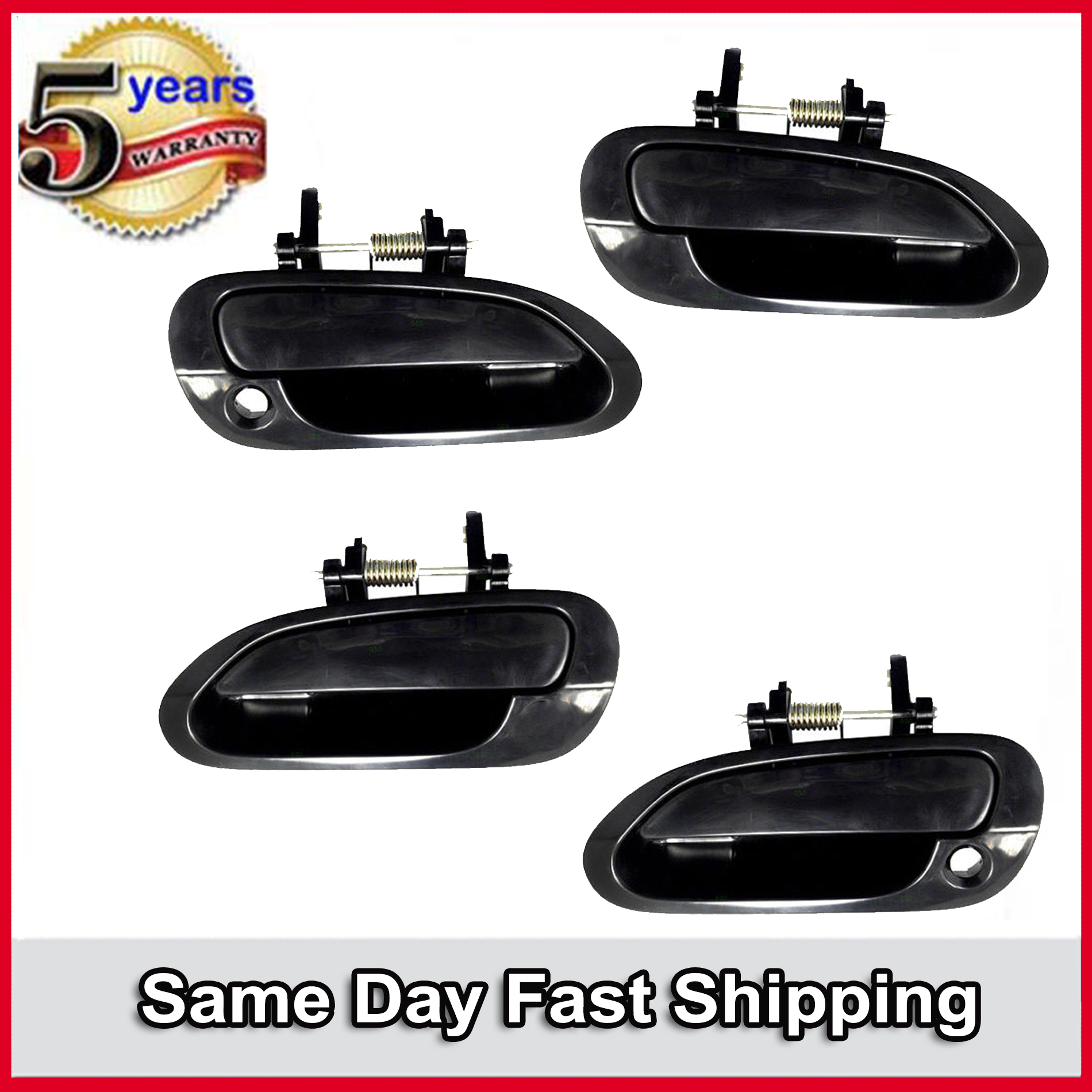 Front Right Rear Left Rear Right Outside Door Handle Primed Black