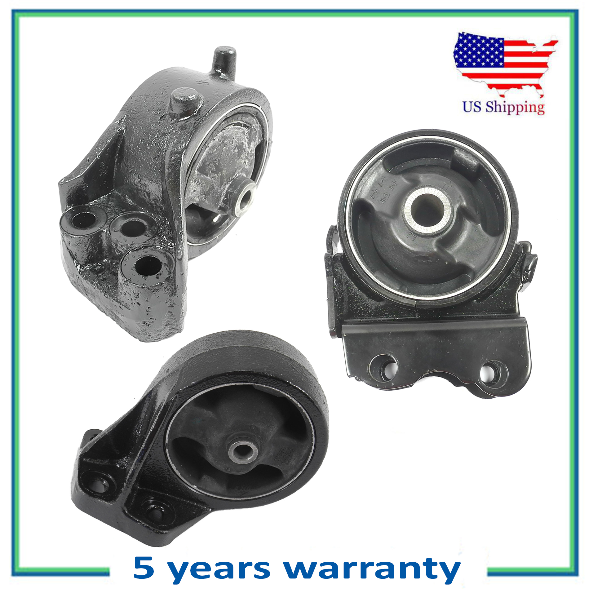 For 2001-2006 Kia Optima 2.4L Engine Motor Mount Mounts AT M363 6108 7106 7129