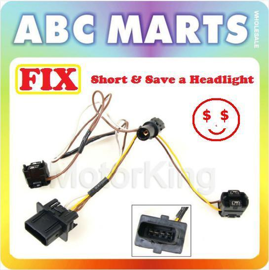 99-03 for benz e320 e430 w210 right headlight wire wiring harness connector  kit | ebay  ebay