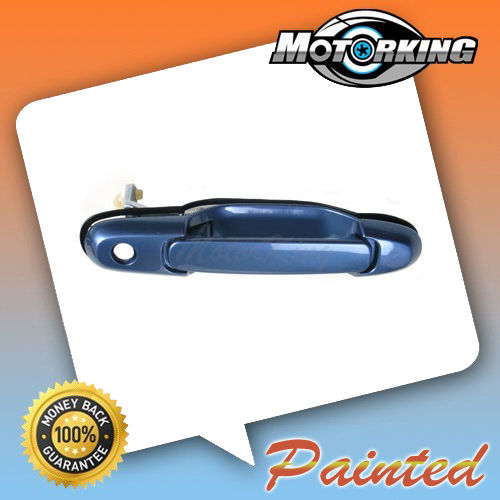 Outside Sliding Door Handle Rear For 1998-2003 Toyota Sienna Denim Blue Mica 8L9