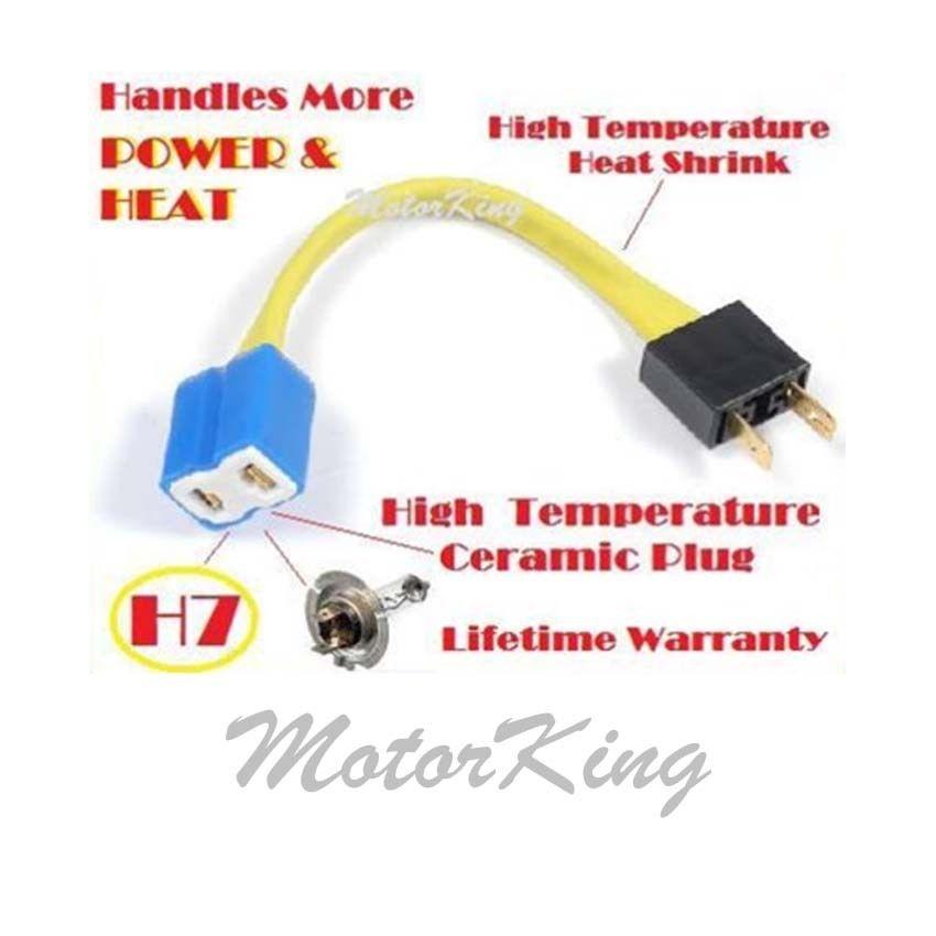 VOLVO V40 97/> H7 Headlamp 12v H7 2 Pin Bulb Holder Headlight Wiring Loom
