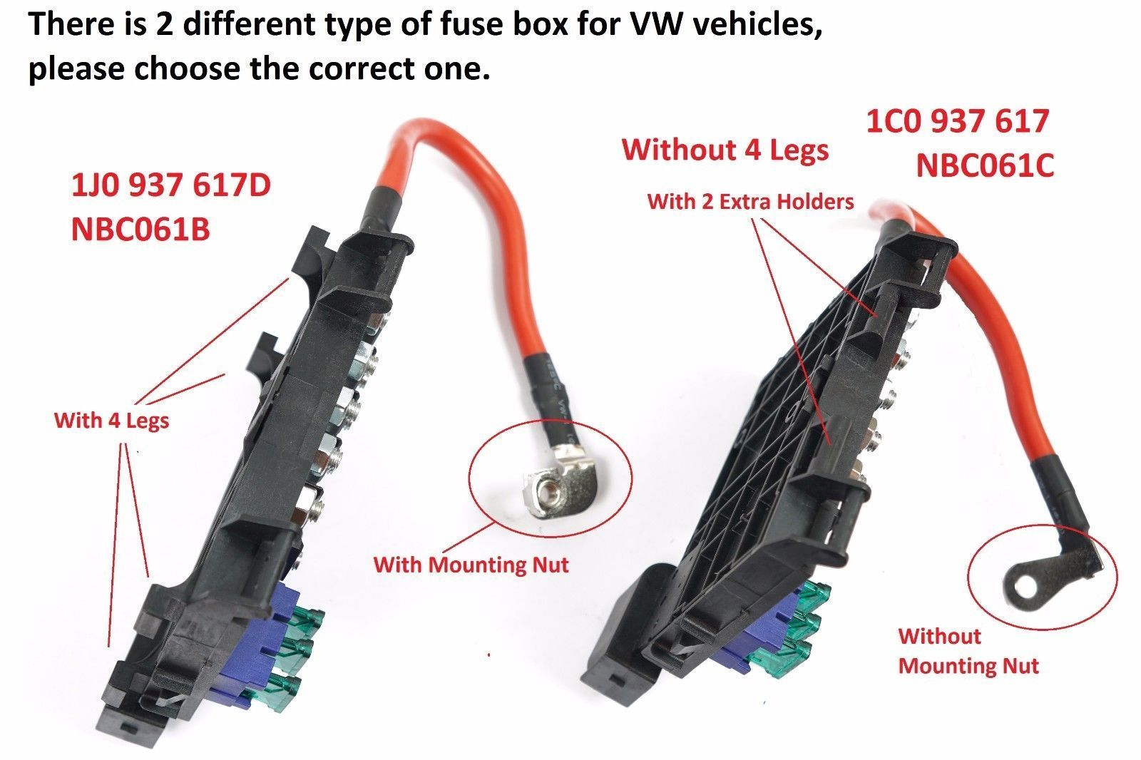For VW Beetle Bora Jetta Golf MK4 Hi Temp Fuse Box w/Cable Wire Connector  FB02