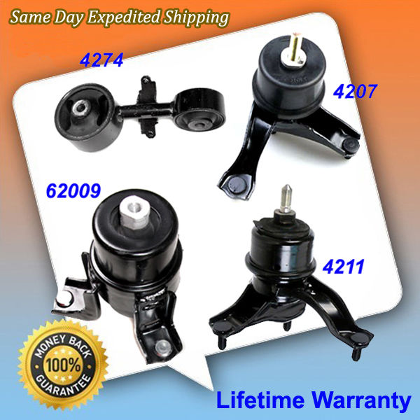 Compatible with Transmission and Engine Motor Mount Kit Toyota Camry 2.4L Automatic 2007-2011 Replace 4211 4274 4207 62009