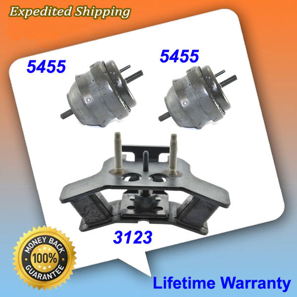 For 2004 Cadillac CTS 3.2L Auto 5455*2 5373 Set Engine Motor /& Trans Mount