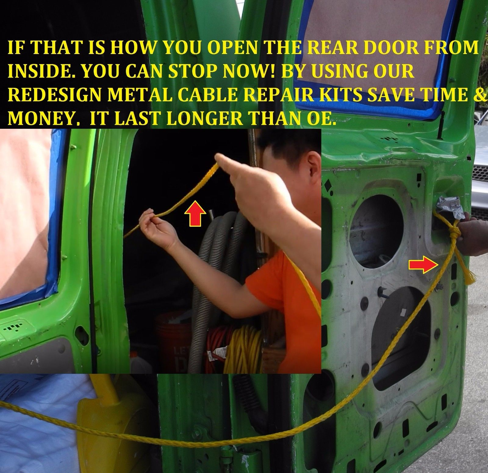 Meta Ford Econoline Van Handle Rear Cargo Door Latch Release Cable Diagram How To Replace A Defective Sliding 2pcs Rk5002m