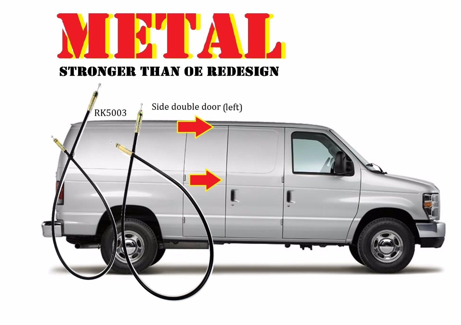 For Metal Econoline Van Handle Side Cargo Latch Release Actuator 2 1980 Ford Cable Rk5003