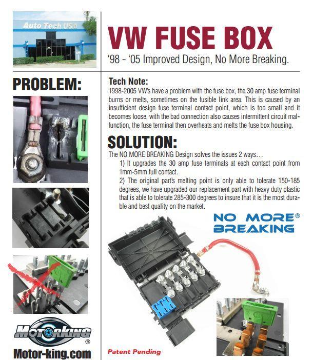 FB03 Fuse Box & Connector SET For Volkswagen Beetle Bora Jetta Golf ...